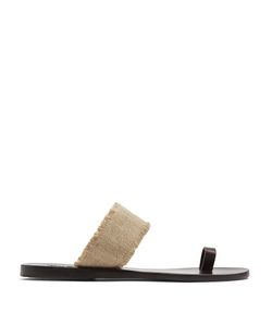 ANCIENT GREEK SANDALS | Thraki Leather And Linen Sandals