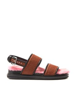 Marni | Fur-Insole Calf-Hair Sandals