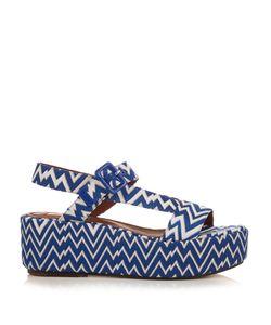 Missoni | Zigzag-Knit Flatform Sandals