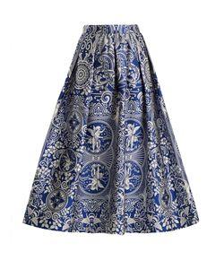 Mary Katrantzou   Bowles Cards-Jacquard Midi Skirt