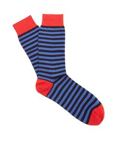 PANTHERELLA | Sutton Striped Cotton-Blend Socks