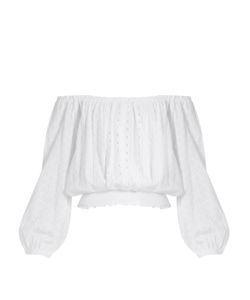 Melissa Odabash | Adrianna Off-The-Shoulder Broderie-Anglaise Top