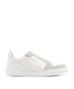 Ami   Contrast-Panel Low-Top Leather And Suede Trainers