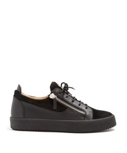Giuseppe Zanotti Design | Frankie Low-Top Leather And Suede Trainers