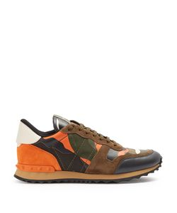 Valentino | Rockrunner Camouflage Suede And Leather Trainers