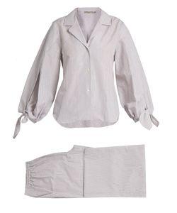 THREE GRACES LONDON | Bardeu And Basilio Striped Poplin Pyjama Set