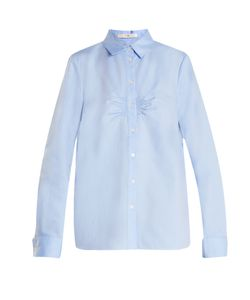 Tibi | Ruched-Front Cotton-Oxford Shirt