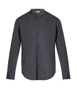 Vince   Band-Collar Cotton Shirt