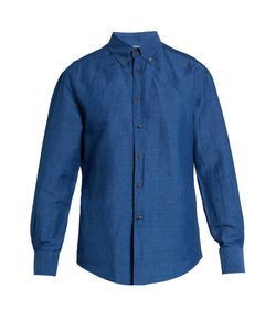Brunello Cucinelli | Slim-Fit Linen And Cotton-Blend Chambray Shirt