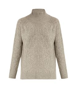 Allude | High-Neck Wool And Cashmere-Blend Sweater