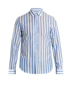 Maison Margiela | Buttoned-Cuff Striped Shirt