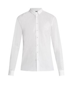 Balmain | Logo-Embroide Cotton-Poplin Shirt