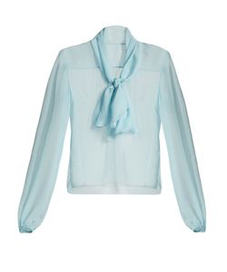 Dolce & Gabbana | Tie-Neck Semi-Sheer Chiffon Blouse
