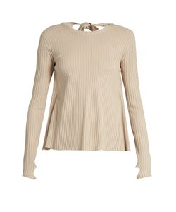Helmut Lang | Open-Back Ribbed-Knit Sweater
