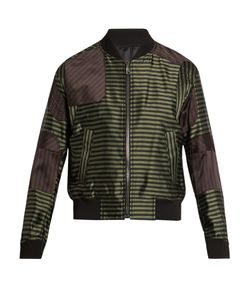 Wooyoungmi | Striped Satin Bomber Jacket