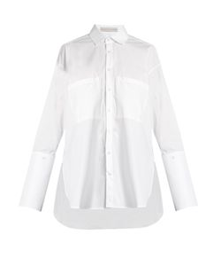 PALMER/HARDING | Double-Cuff Cotton-Blend Shirt