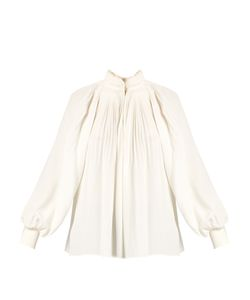 Tibi | Pleated Silk Crepe De Chine Top