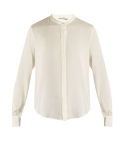Vince | Long-Sleeved Silk-Blend Satin Shirt