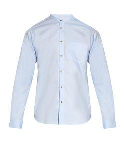 ORLEY | Raw-Edge Band-Collar Cotton Shirt