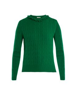Miu Miu | Frilled-Neck Cashmere Sweater