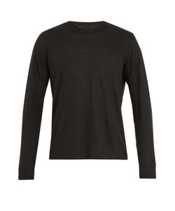 120% Lino | Long-Sleeved Linen T-Shirt