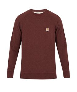Maison Kitsune | Fox-Appliqué Cotton Sweatshirt
