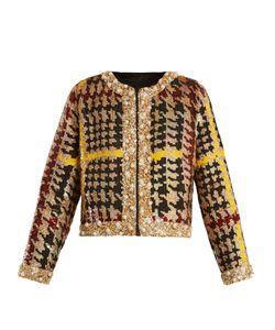 Ashish | Collarless Hounds-Tooth Sequin-Embellished Jacket