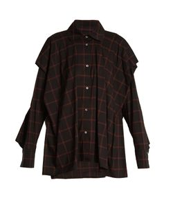Vivienne Westwood Anglomania | Fever Checked Cotton-Blend Shirt