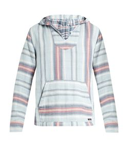 Faherty | Baja Striped-Cotton Hooded Poncho