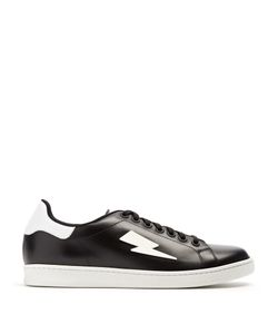 Neil Barrett | Thunderbolt Low-Top Leather Trainers