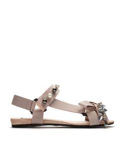No. 21 | Crystal-Embellished Canvas Sandals
