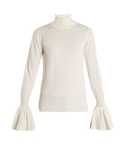 Adam Lippes | Fluted-Cuff Wool Sweater
