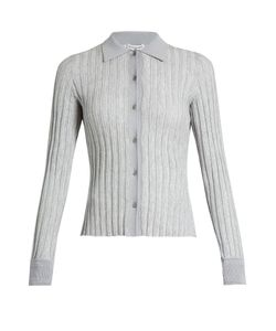 Altuzarra | Campbell Point-Collar Ribbed-Knit Cardigan