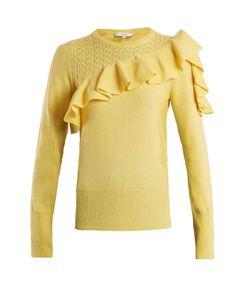 Erdem | Dharma Ruffle-Trimmed Knit Sweater
