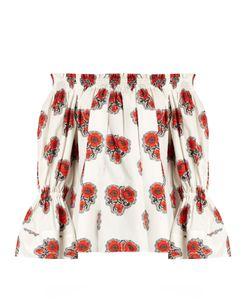 Alexander McQueen | Poppy-Print Off-The-Shoulder Top