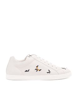 Fendi | Butterfleye Low-Top Leather Trainers