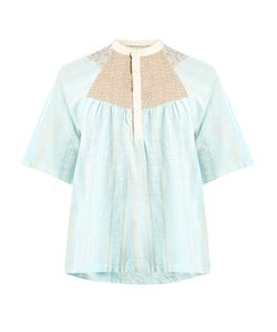 ACE & JIG | Bronte Striped Woven-Cotton Top