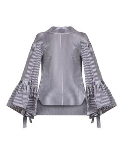 Teija | Striped Tie-Back Cotton-Poplin Top