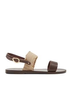 ANCIENT GREEK SANDALS | Dinami Leather And Linen Sandals