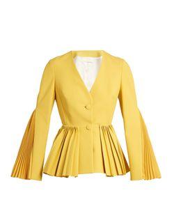 Sara Battaglia | Pleated Twill Tailored Jacket