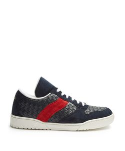 Bottega Veneta | Intrecciato Low-Top Leather And Suede Trainers