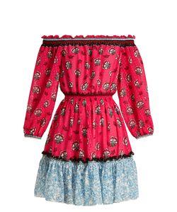 Mary Katrantzou   Piquet Off-The-Shoulder Fil Coupé Mini Dress