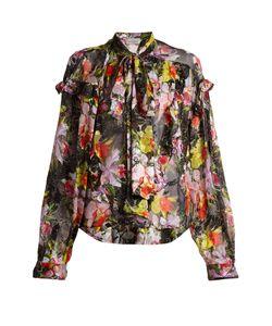 Preen By Thornton Bregazzi | Cora Print Silk-Blend Jacquard Shirt