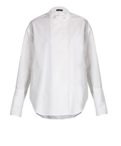 Calvin Klein Collection | Larabee Granddad-Collar Cotton Shirt