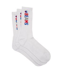 Champion x Beams | Set Of Three Ribbed Cotton-Blend Socks