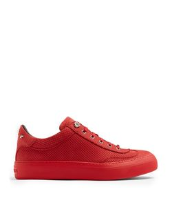 Jimmy Choo | Ace Perforated-Effect Low-Top Nubuck Trainers