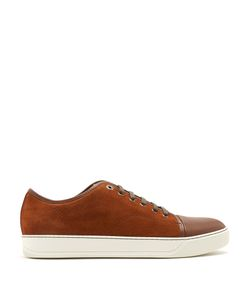 Lanvin | Low-Top Suede And Leather Trainers