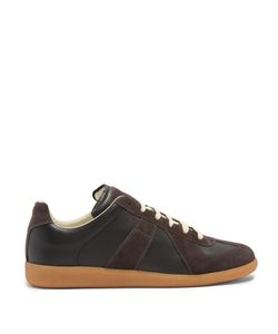 Maison Margiela | Replica Contrast-Panel Low-Top Leather Trainers