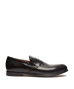 ARMANDO CABRAL   Church Python-Effect Leather Loafers