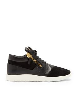 Giuseppe Zanotti Design | Runner Mid-Top Leather And Suede Trainers